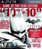 Warner Bros Batman Arkham City Game of the Year Edition PS3 Playstation 3 Game