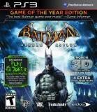 Warner Bros Batman Arkham Asylum Game of the Year PS3 Playstation 3 Game