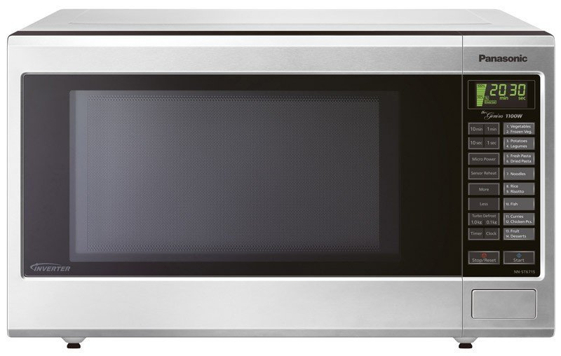 Image of Panasonic - 32L Inverter Microwave Oven, Stainless Steel, 1100W
