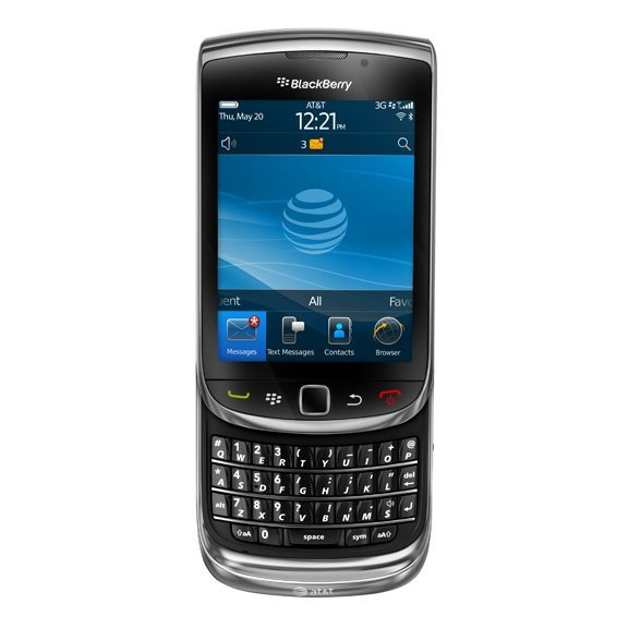 The BlackBerry Torch 9800 combines a physical QWERTY keyboard with a