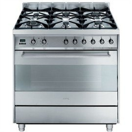 Image of Smeg 90cm Gas/Electric Freestanding Cooker C9GMXA