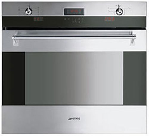 Image of Smeg 76cm Thermoseal Pyrolytic Multifunction Electric Oven SOA330X