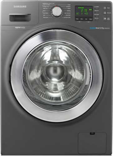 Image of Samsung - 8.5kg Front Load Washing Machine, Bubble Wash, Inox Silver