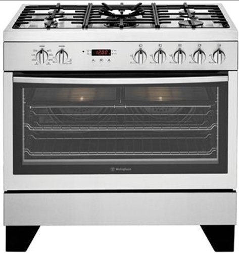 Image of Westinghouse WFE912SA 90cm Dual Fuel Freestanding Cooker