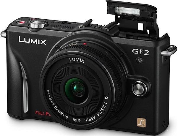 Image of Lumix DMC-GF2 w/ Pansonic 14mm Lumix G Lens (Black)