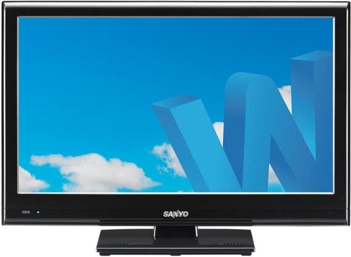 "This ultra thin sanyo 24"" 3d features edge led backlight lcd tv with"