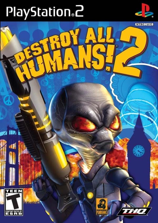 THQ Destroy All Humans 2 PS2 Playstation 2 Game