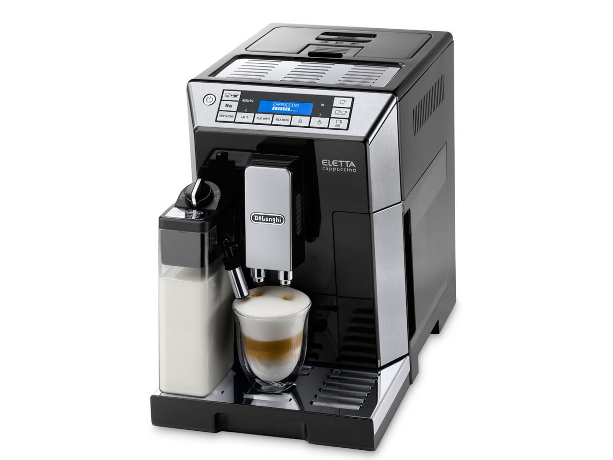 compare delonghi eletta cappuccino ecam45760b coffee maker. Black Bedroom Furniture Sets. Home Design Ideas