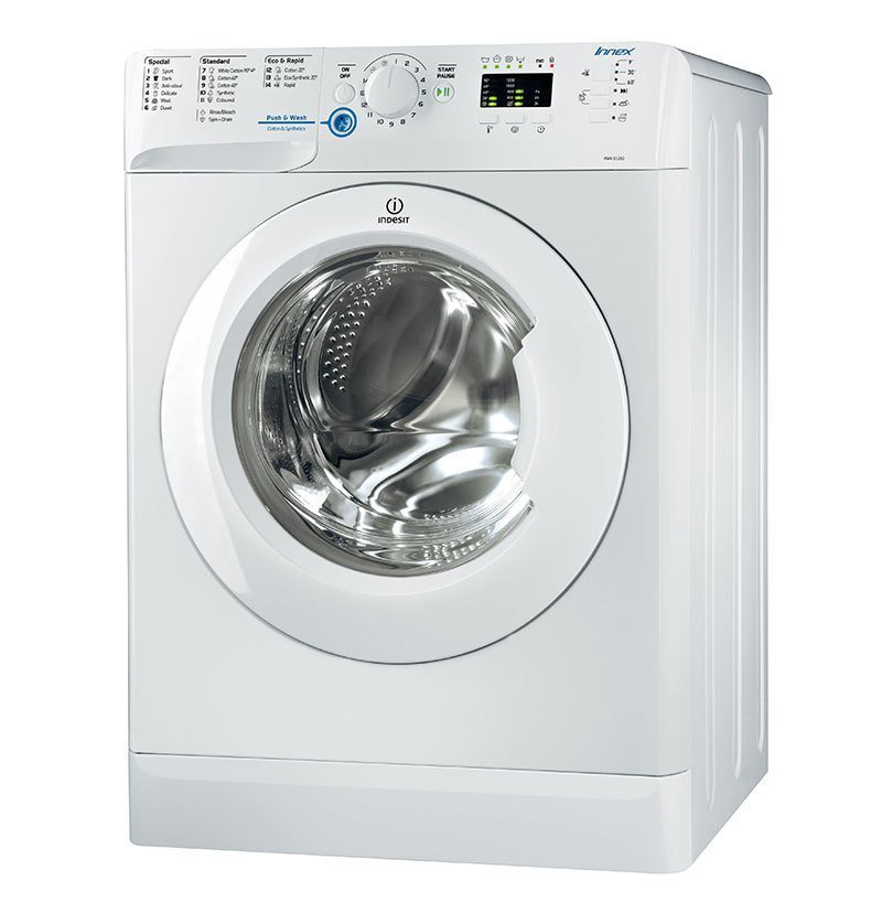 Image of Indesit XWA81283XWAUS 8kg Front Load Washing Machine