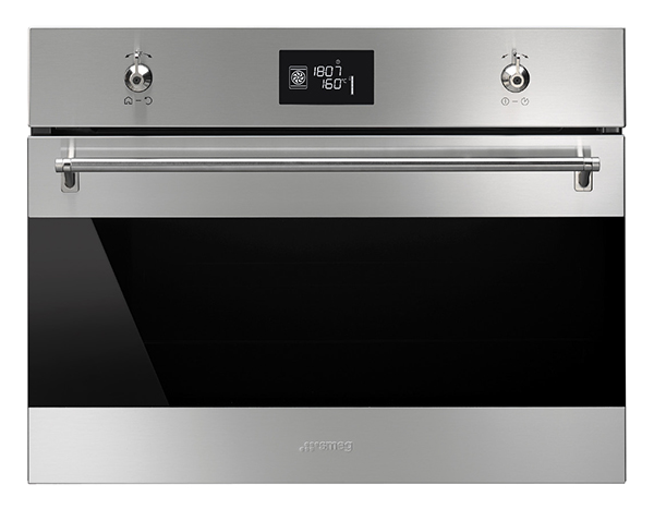 Image of Smeg 45cm Classic Compact Pyrolytic Oven - SFPA4390X