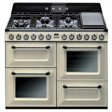 Image of 110cm Smeg Victoria Dual Fuel Freestanding Cooker TRA4110P