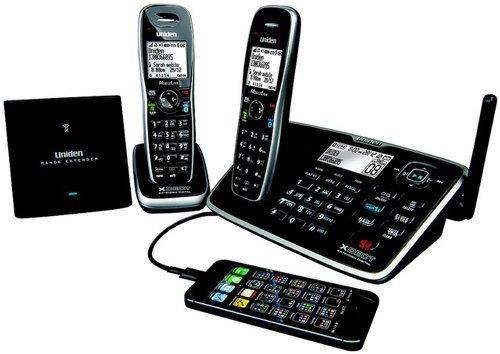Image of Uniden XDECT 8155+1 TWIN LONG RANGE ans. machine cordless phone 2 handsets NEW
