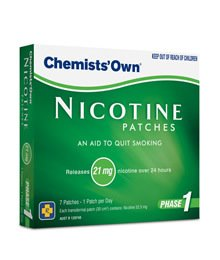Image of Chemists' Own Nicotine Patches 21mg x 8 weeks ( 56 Patches )