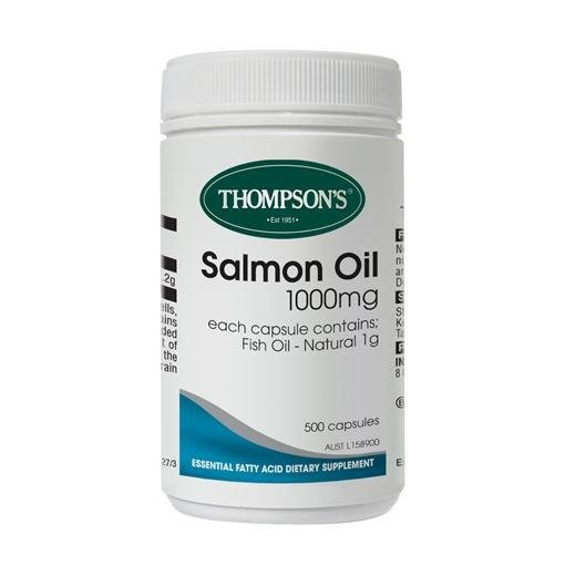 Image of Thompson's Salmon Oil 1000mg 500 Caps