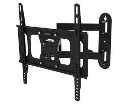 Premium Universal TV Wall Mount Bracket with Extendable Dual Pivot Tilt Arms (45kg)