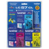 Brother LC57CL 3 Pack Bundle (Genuine)