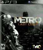 THQ Metro Last Light PS3 Playstation 3 Game