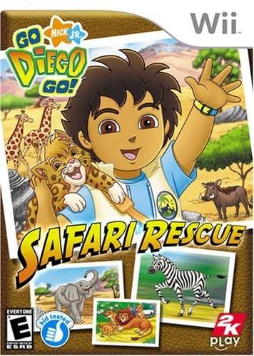 2K Play Go Diego Go Safari Rescue Refurbished Nintendo Wii Game
