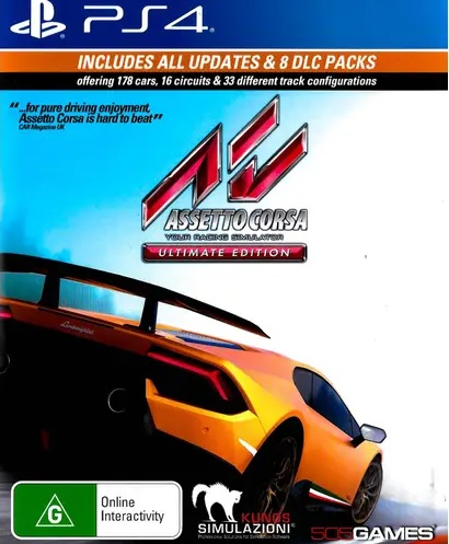505 Games Assetto Corsa Ultimate Edition Refurbished PS4 Playstation 4 Game