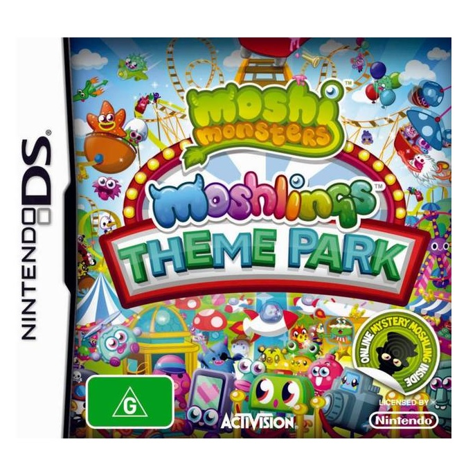Activision Moshi Monsters Moshlings Theme Park Refurbished Nintendo DS Game
