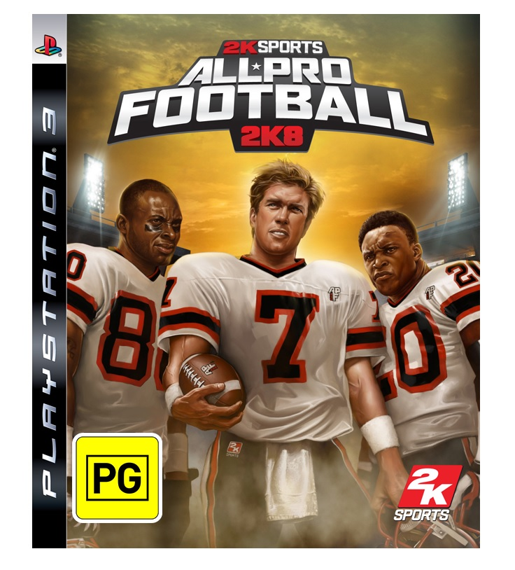 2k Sports All Pro Football 2K8 Refurbished PS3 Playstation 3 Game