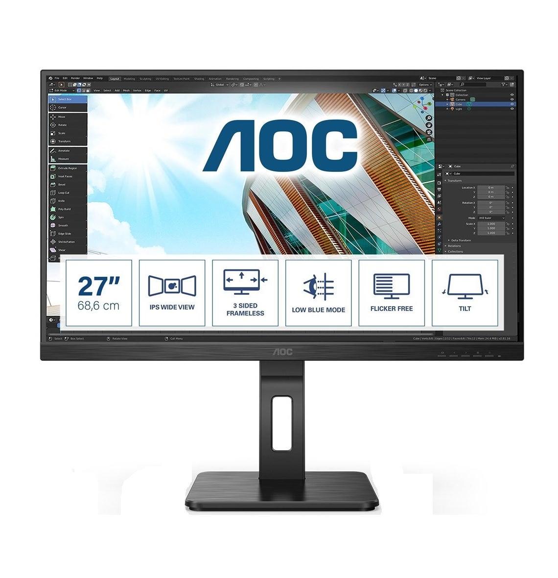 Aoc 27P2Q 27inch WLED LCD Monitor