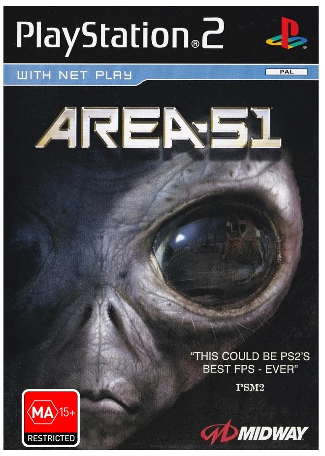 Midway Games Area 51 Refurbished PS2 Playstation 2 Game