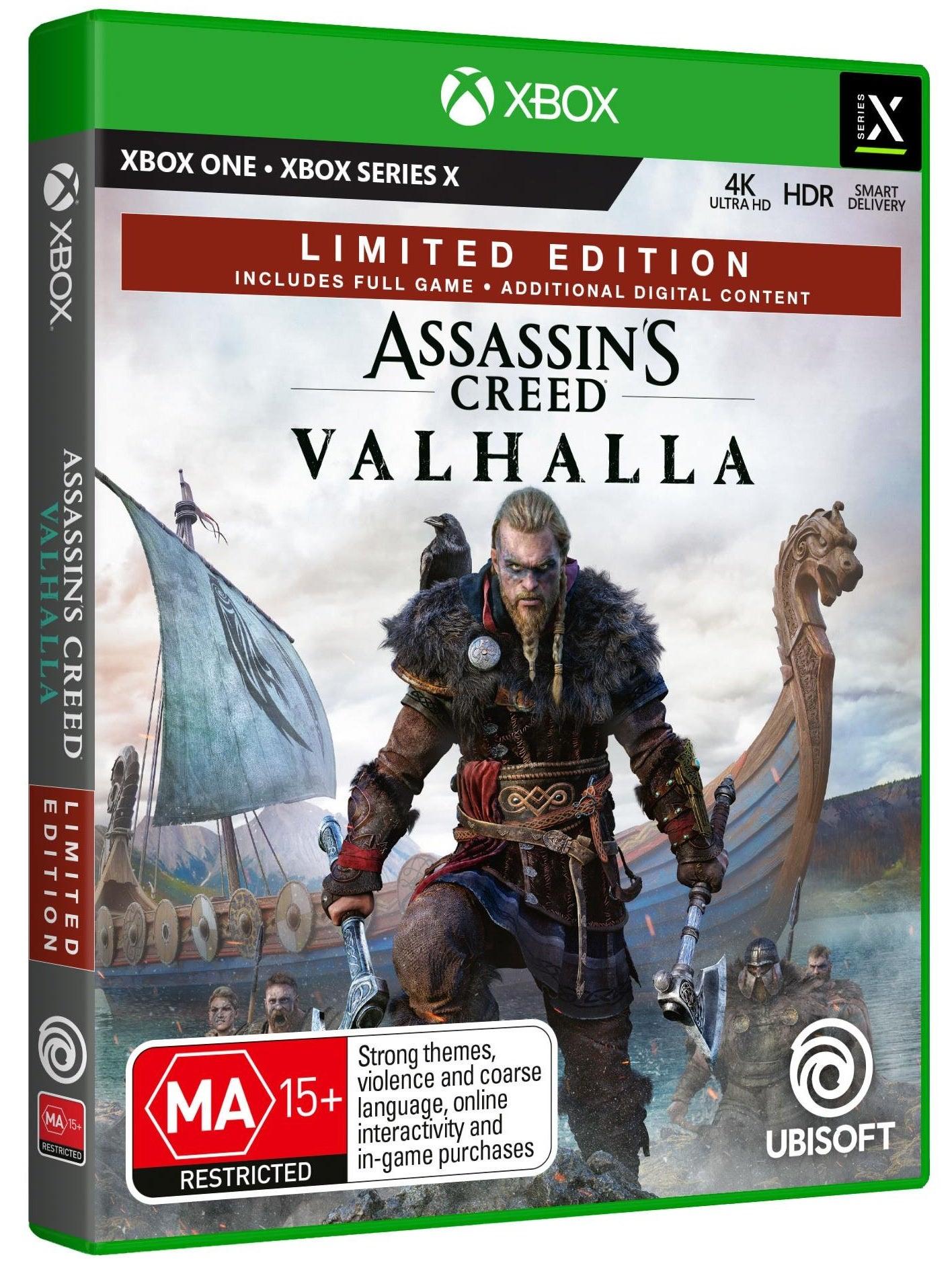 Ubisoft Assassins Creed Valhalla Limited Edition Xbox Series X Game