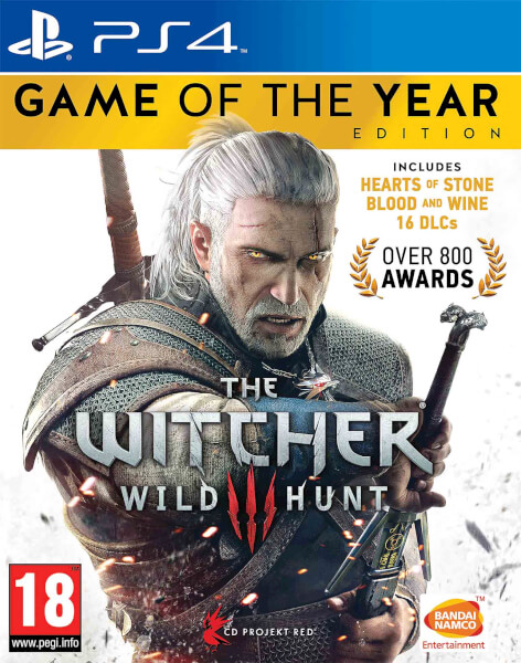 Bandai Namco The Witcher 3 Wild Hunt Game of the Year Edition PS4 Playstation 4 Game