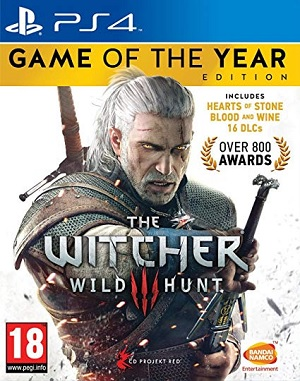 Bandai The Witcher Wild 3 Hund Game Of The Year Edition PS4 Playstation 4 Game