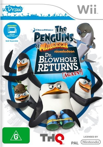 THQ Penguins of Madagascar Dr Blowhole Returns Again Nintendo Wii Game