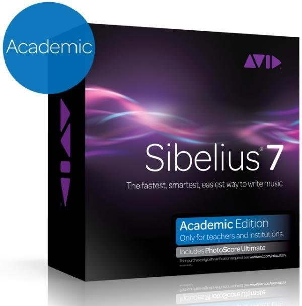 Avid Sibelius 7 Academic plus Photoscore Ultimate Audio Software