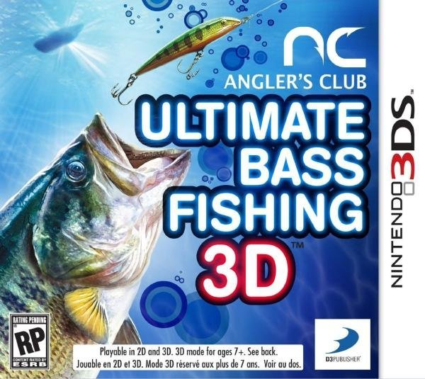 D3 Anglers Club Ultimate Bass Fishing Nintendo 3DS Games