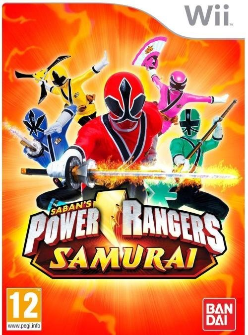 Namco Power Rangers Samurai Nintendo Wii Game