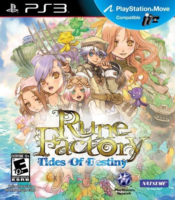 Natsume Rune Factory Tides of Destiny PS3 Playstation 3 Game