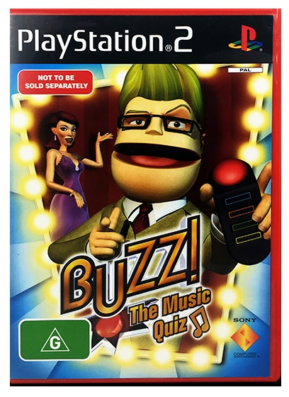 Sony Buzz The Musix Quiz PS2 Playstation 2 Game