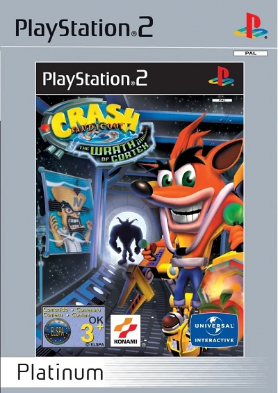 Konami Crash Bandicoot The Wrath Of Cortex Platinum Refurbished PS2 Playstation 2 Game