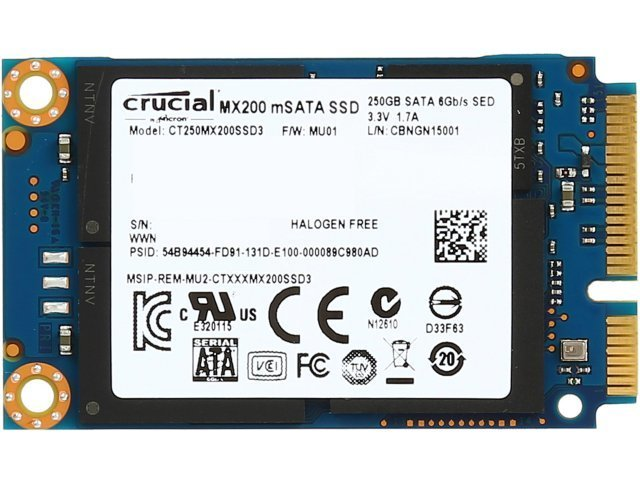 Crucial MX200 M2 2280SS 250GB Solid State Drive