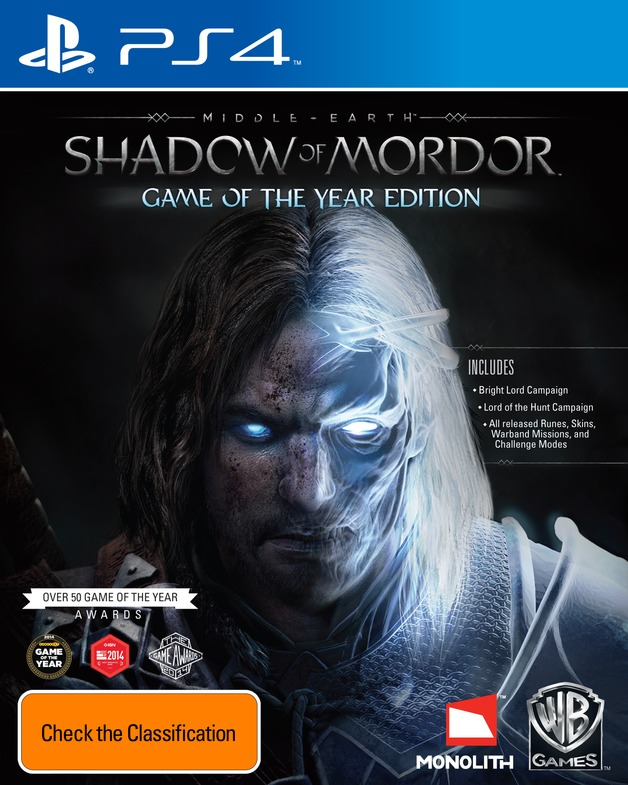 Focus Home Interactive Middle Earth Shadow of Mordor Game of the Year PS4 Playstation 4 Game