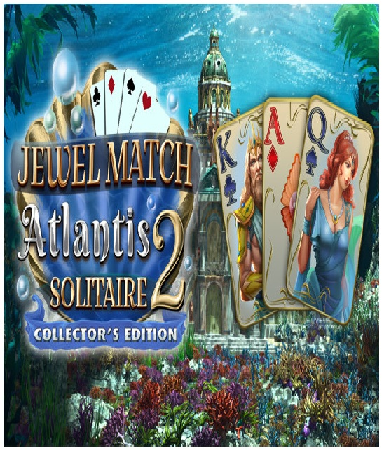Grey Alien Games Jewel Match Atlantis Solitaire 2 Collectors Edition PC Game