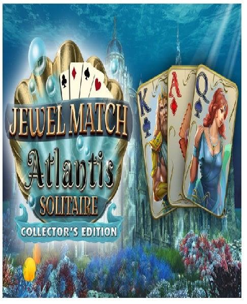 Grey Alien Games Jewel Match Atlantis Solitaire Collectors Edition PC Game