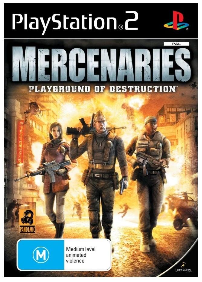 Lucas Art Mercenaries Playground Of Destruction Refurbished PS2 Playstation 2 Game