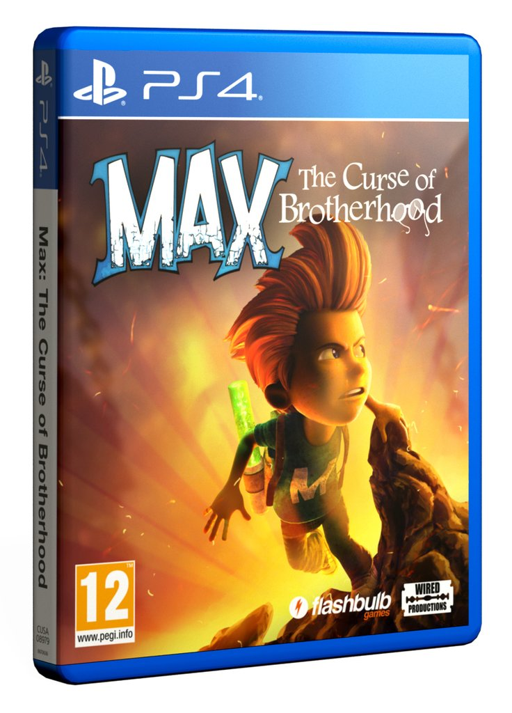 Microsoft Max The Curse Of The Brotherhood PS4 Playstation 4 Game