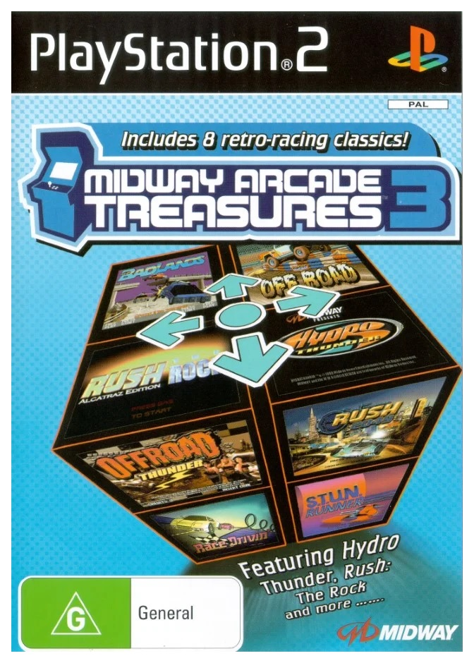 Midway Games Midway Arcade Treasures 3 Refurbished PS2 Playstation 2 Game