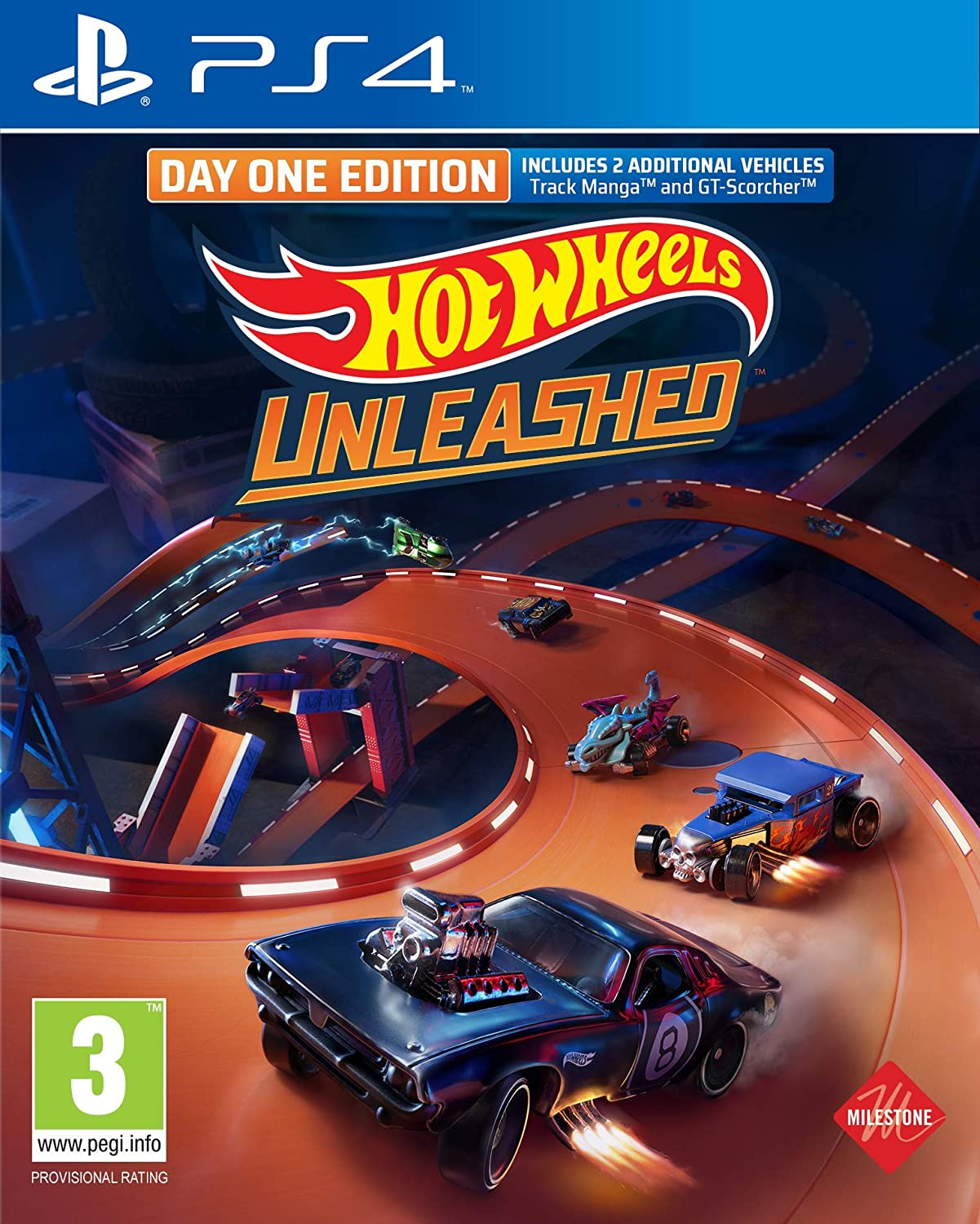 Milestone Hot Wheels Unleashed Day One Edition PS4 Playstation 4 Game