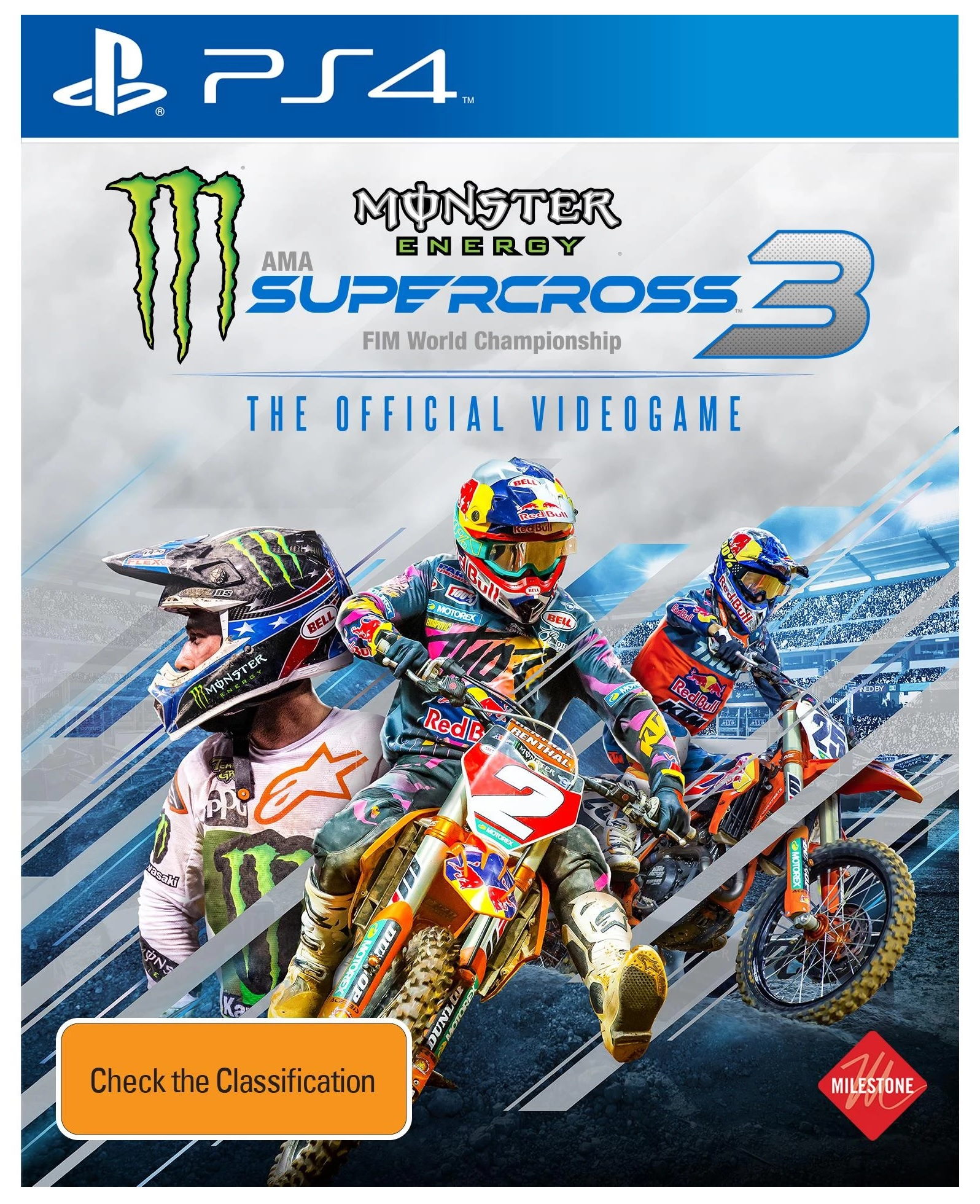 Milestone Monster Energy Supercross The Official Videogame 3 PS4 Playstation 4 Game