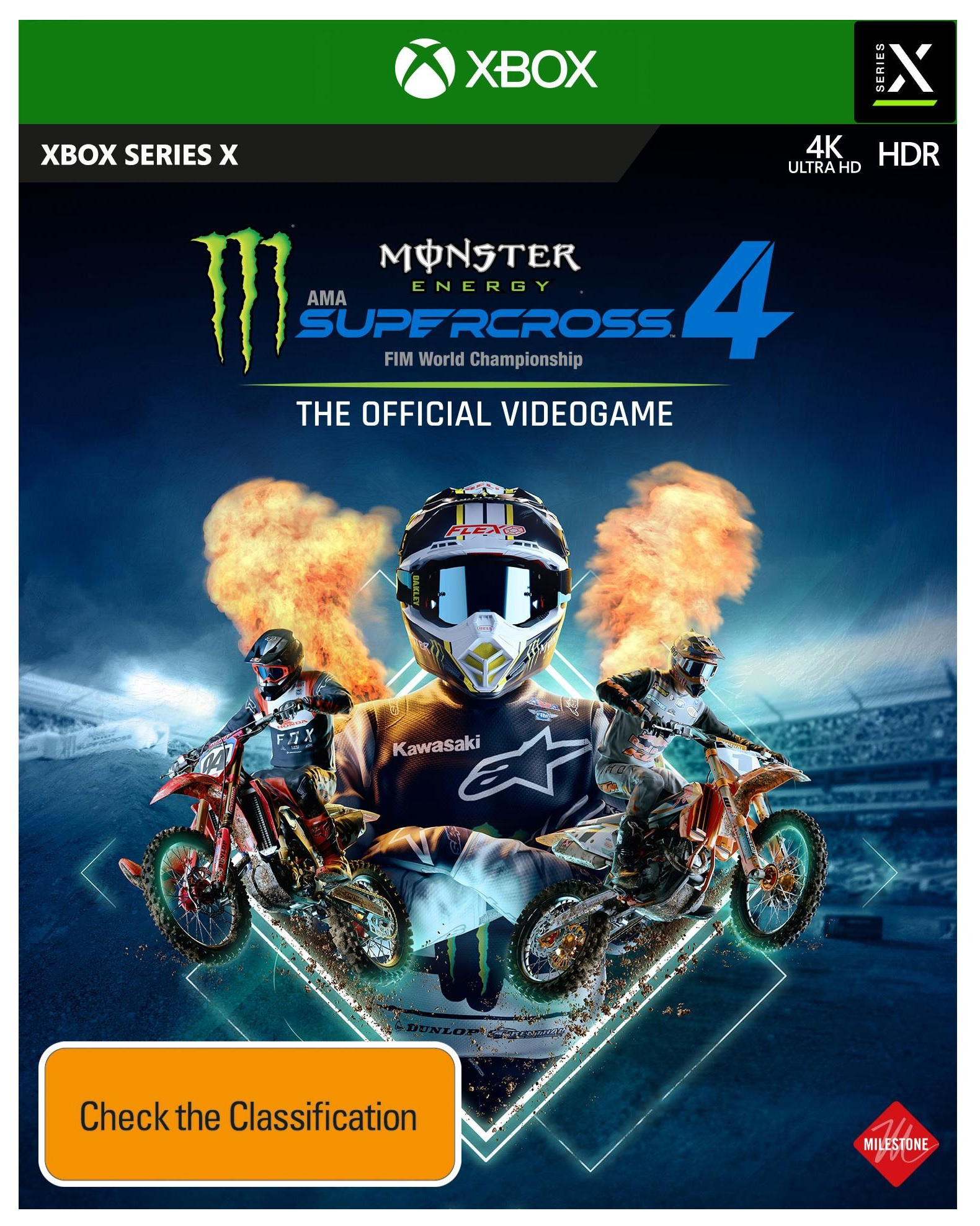 Milestone Monster Energy Supercross The Official Videogame 4 Xbox X Game