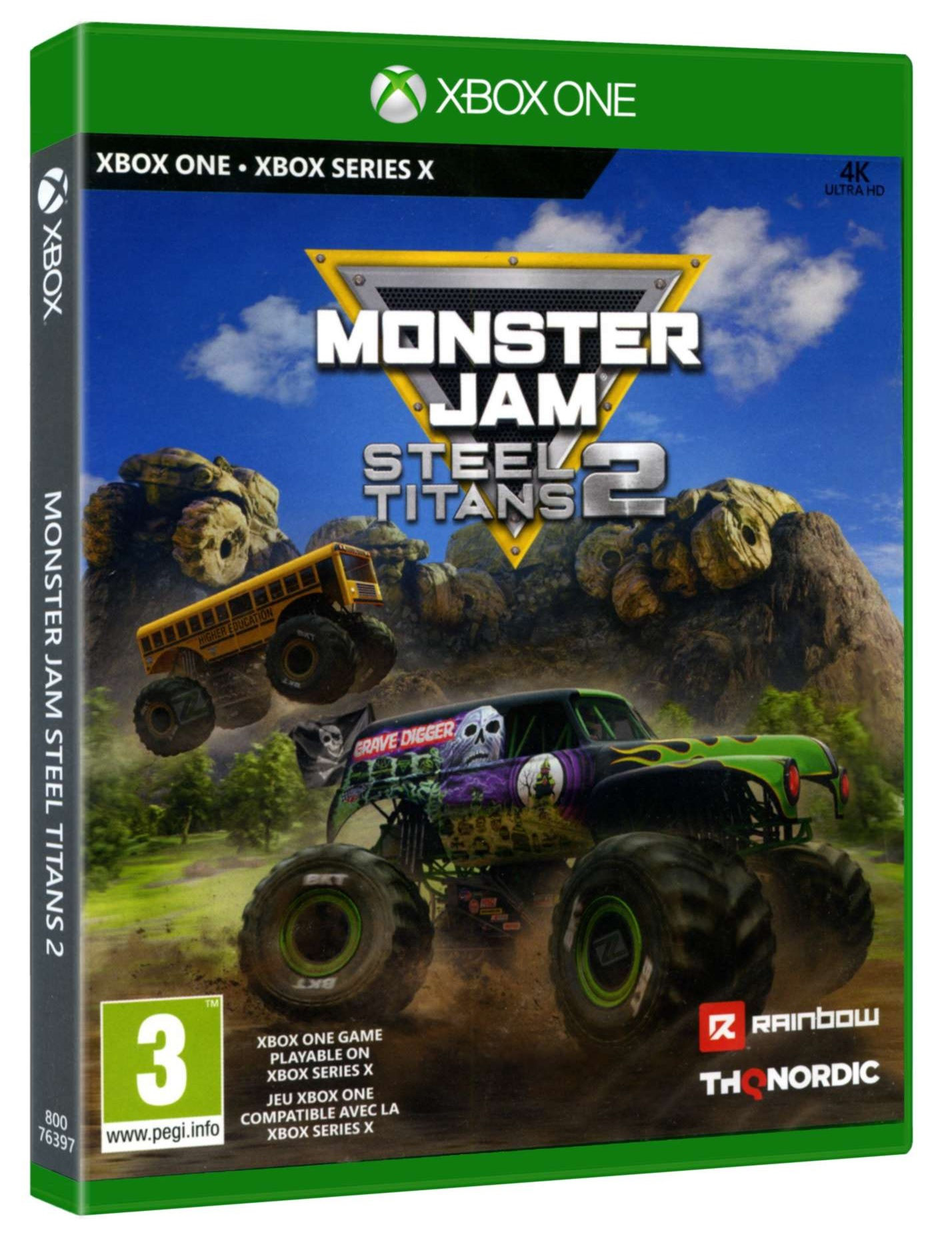 THQ Monster Jam Steel Titans 2 Xbox Series X Game