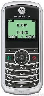 Motorola C118 2G Mobile Phone