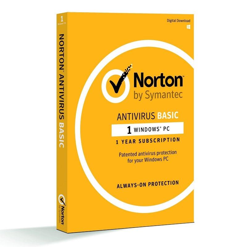Symantec Norton Antivirus Basic Security Software
